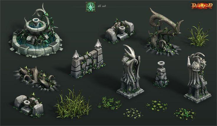 ArtStation - elf environment set, Vladimir Voronov