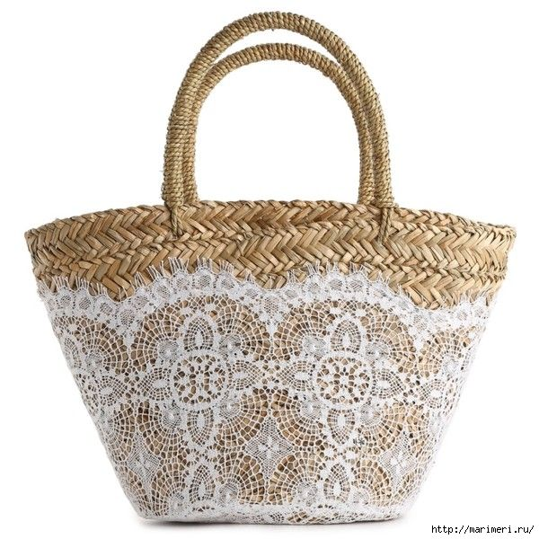 handbag with lace