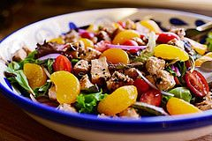 Sesame Chicken Salad ! Ужин салат курица мандарин помидор кунжут сезам
