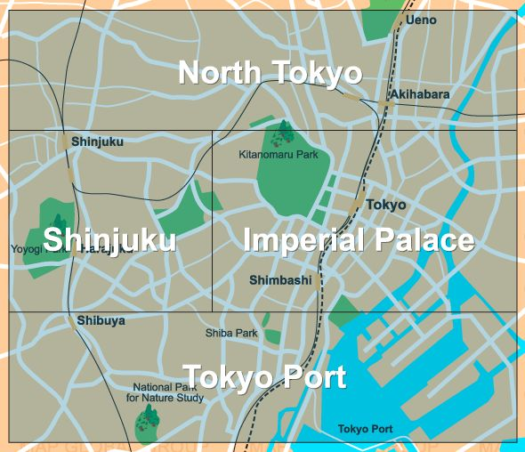 Tokyo Map features over 1,000 points interest. Tokyo map ...