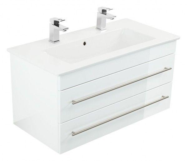 Grosse Badmobel Mit Zwei Waschbecken Mit Unterschrank Und Softclose Schubladen Fur Geraumige Badezimmer Waschbeckenunterschrank Unterschrank Waschbecken