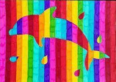 Les over regenboog dieren.  De leerlingen hebben verschillende contouren van…