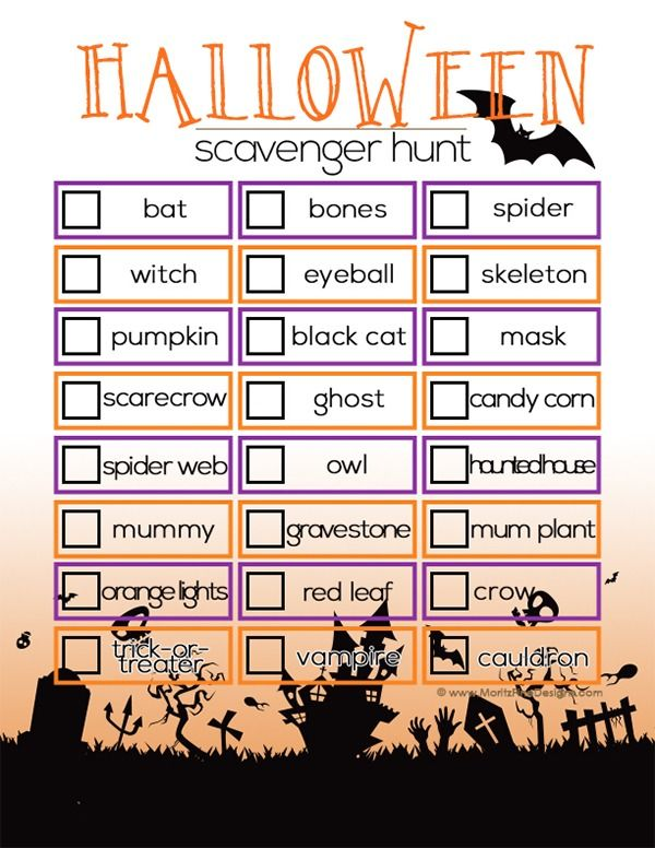 Looking for an activity to keep the kids busy during the Halloween festivities? Use this free printable Halloween Scavenger Hunt for Kids!
