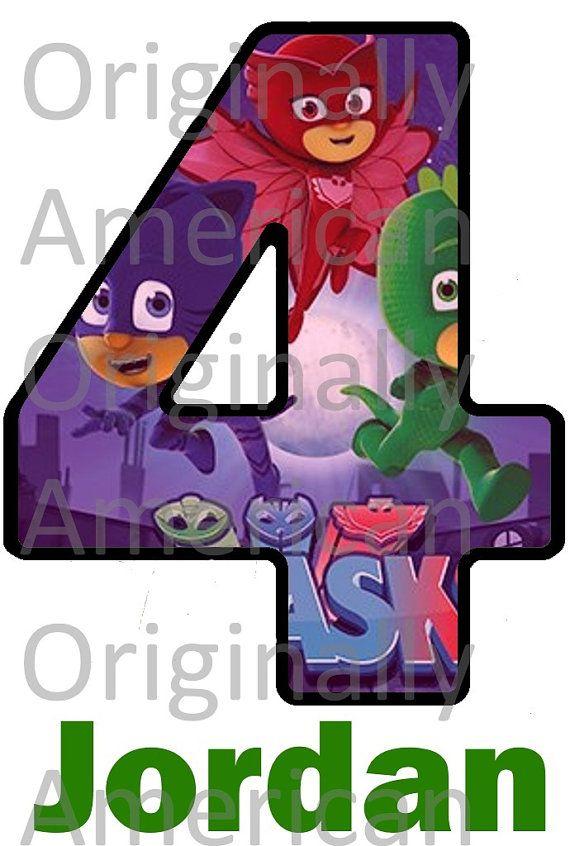Happy Birthday Masks 1st Pj Birthday Font