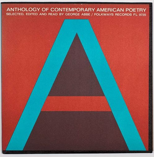 Ronald Clyne, Anthology of Contemporary American Poetry by George Abbe, 1961. Folkways Records. Smithsonian Center for Folklife and Cultural Heritage. Source