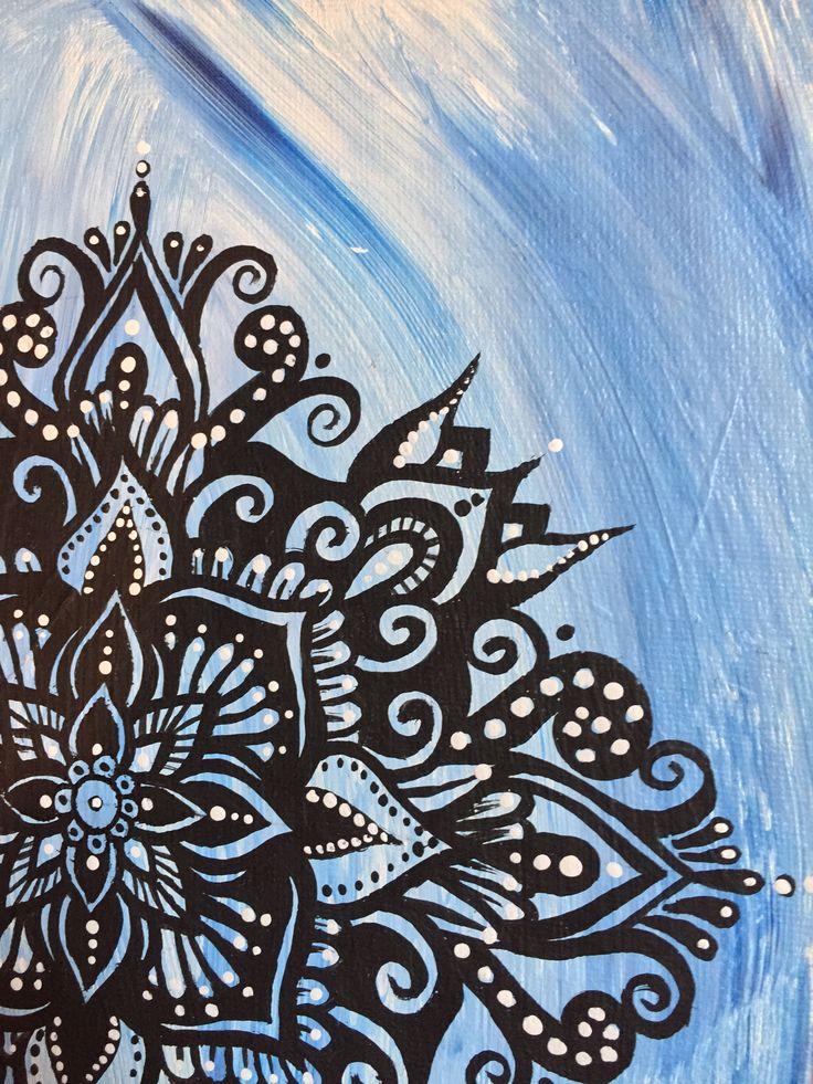 Mandala painting by @samschroederart | INSTAGRAM: samschroeds