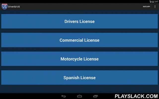 DMV Driver License Reviewer  Android App - playslack.com , Applying for a drivers license in the United States? Driver Ed - US is perfect for you! DriverEd - US can help you pass your written/knowledge exam wherever you are! Just download the app and download your state's official manual. No other external app needed. Perfect for people for first time getting license for permit license, commercial license and motorcycle license. Everything included in one app with practice test included!Try…