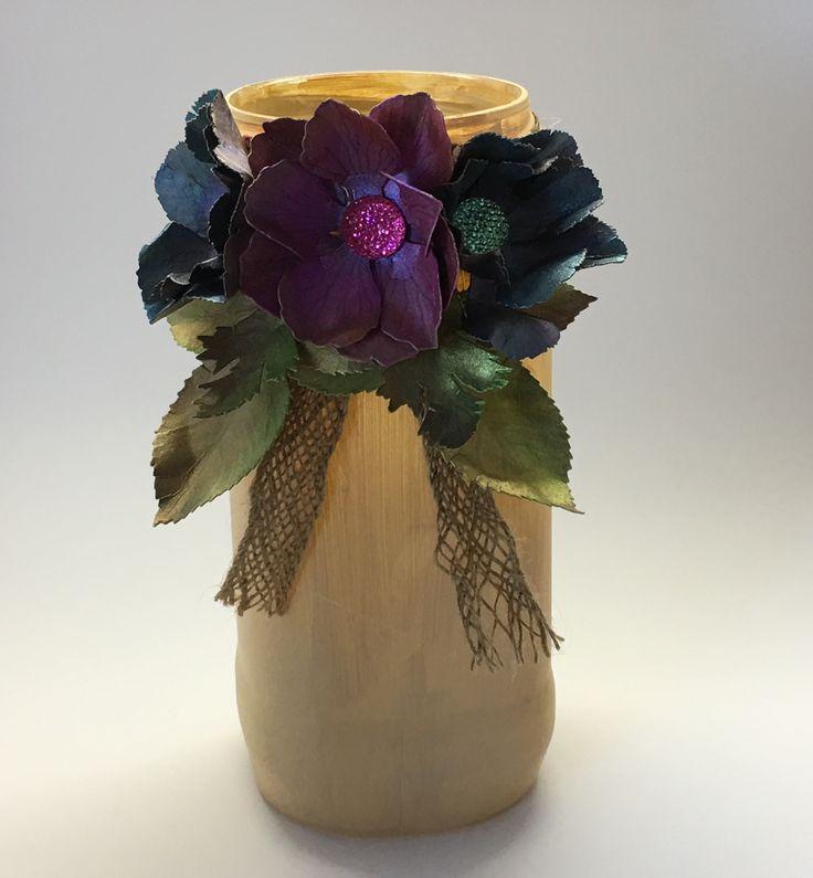 Coffee jar with Sheena Douglass flowers