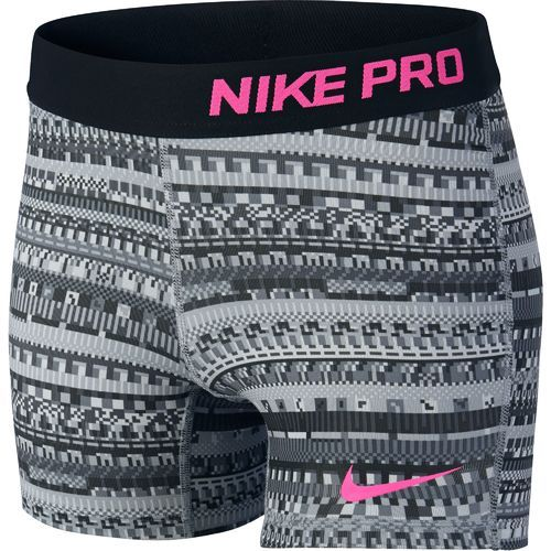 "Image for Nike Girl's' Pro 3"" AOP Short from Academy $18.75"