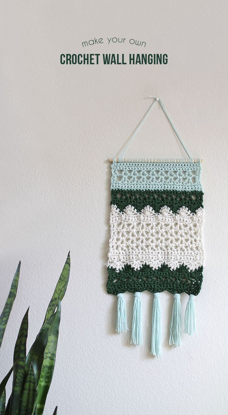 We love this take on the trendy wall-hanging! Get the free pattern and make it with your favorite Lion Brand yarn!
