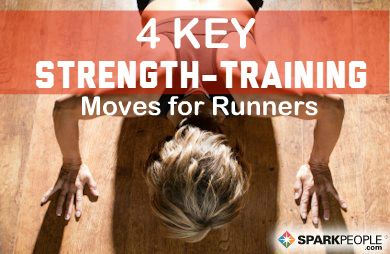 The Best Strength Training Exercises for Runners: A solid strength training program can help runners perform better and lower the risk of injury. Here are some of the moves every runner should include as part of their strength-training program. | via @SparkPeople #fitness #running