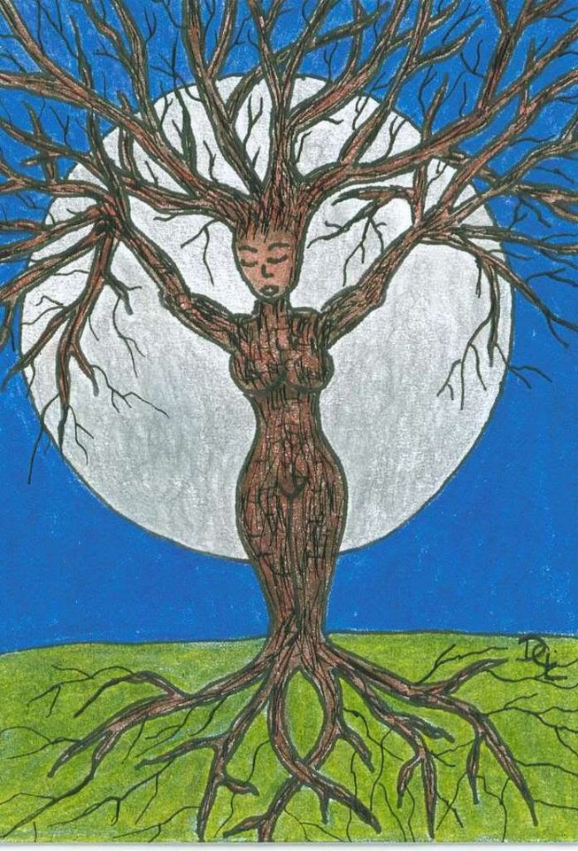 "Druantia is the Celtic Goddess of trees and fertility. She is a triple Goddess of fir trees. Her name is derived from ""drus"", the Celtic word for Oak trees; hence, She is called the ""Queen of Druids"". Druantia is often seen as the eternal, wise, and knowledgeable mother, the one who guides the seeker to their truth path as She instructs and teaches the sacred ways of the forest.  She carries the 'green magic'. She symbolizes protection, knowledge, creativity, and growth.Her feast day was…"