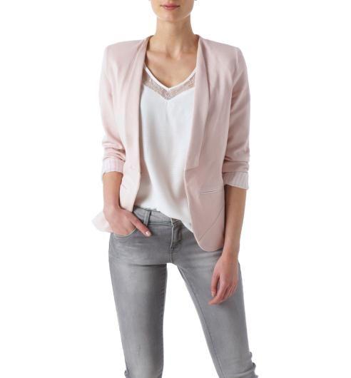Veste de tailleur Femme rose pâle - Promod