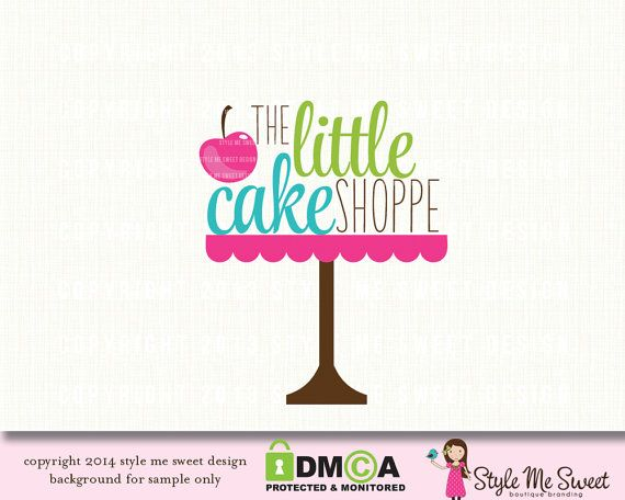 Premade Bakery Logo Cake Stand Small By Stylemesweetdesign 4500