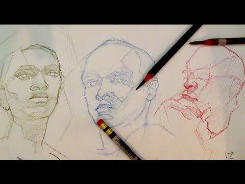 How to Draw Portraits & The Head | How to block-in a portrait or the head - YouTube