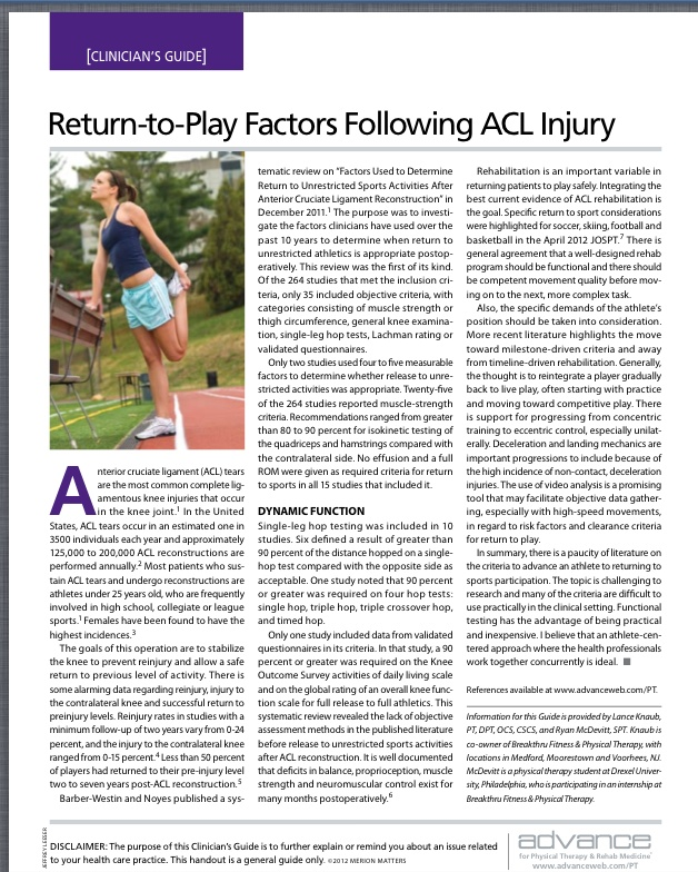 how to stay in shape with a torn acl