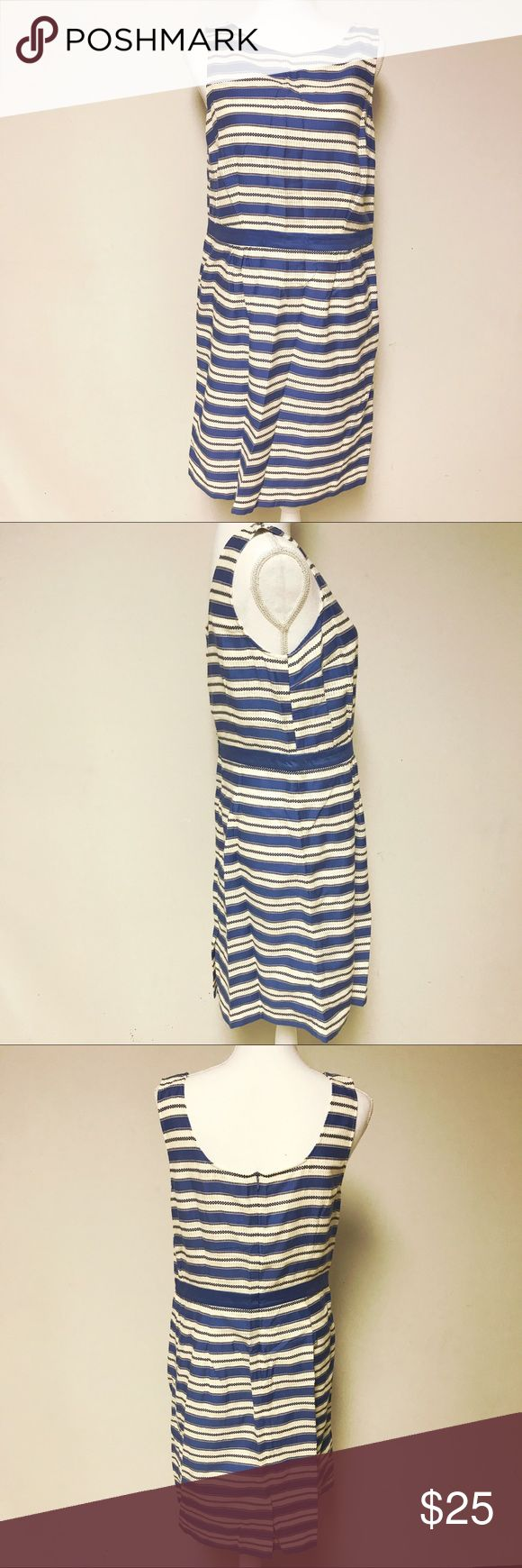 • Boden Striped Cotton Blue and White Dress • •	Perfect for casual wear 	•	Dress is 1 time worn, Clean Condition, No rips, tears, and/or stains, excellent condition  	•	Length measurement is 38 inches, armpit to armpit 19 in 	•	Fabric is 100% Cotton.   Will be freshly steamed before shipping    If you have any questions, do not hesitate to message me. Follow me for more great deals, I have a lot of designer pieces for low prices, and price is always negotiable! Boden Dresses