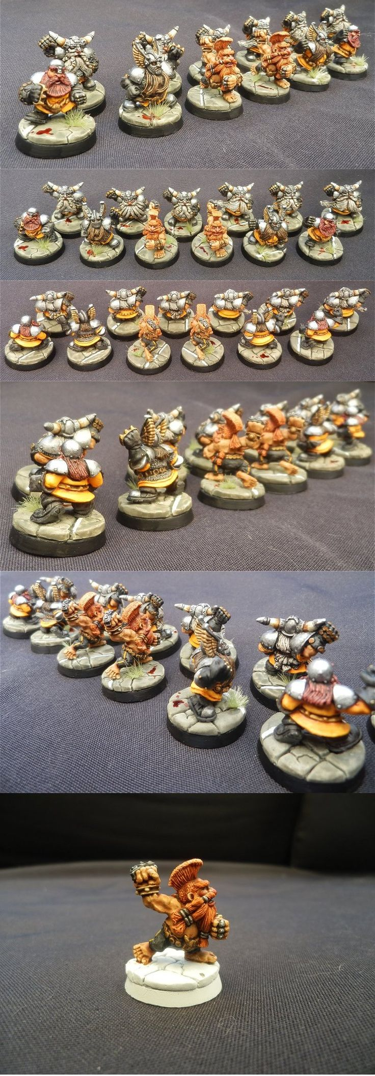 Blood Bowl Dwarf team.