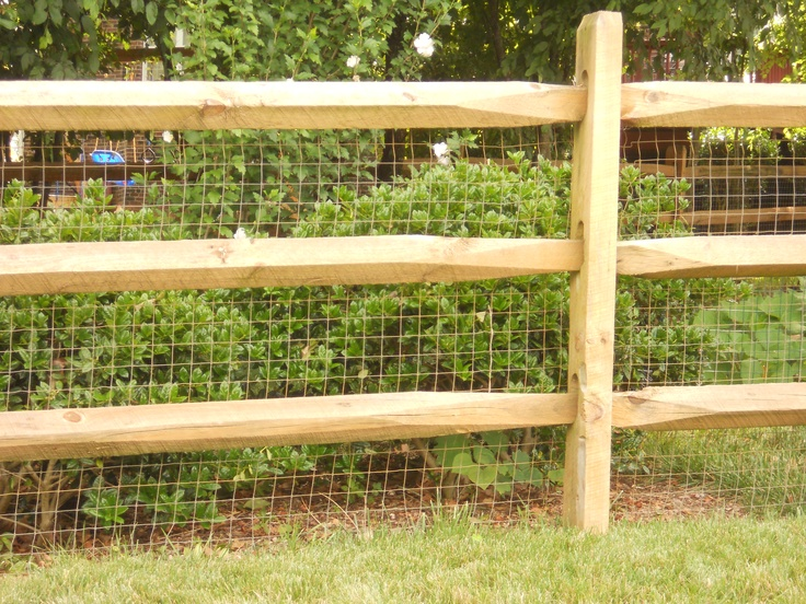 Split Rail Fence W/ Wire Behind...create Area That The Animals Can