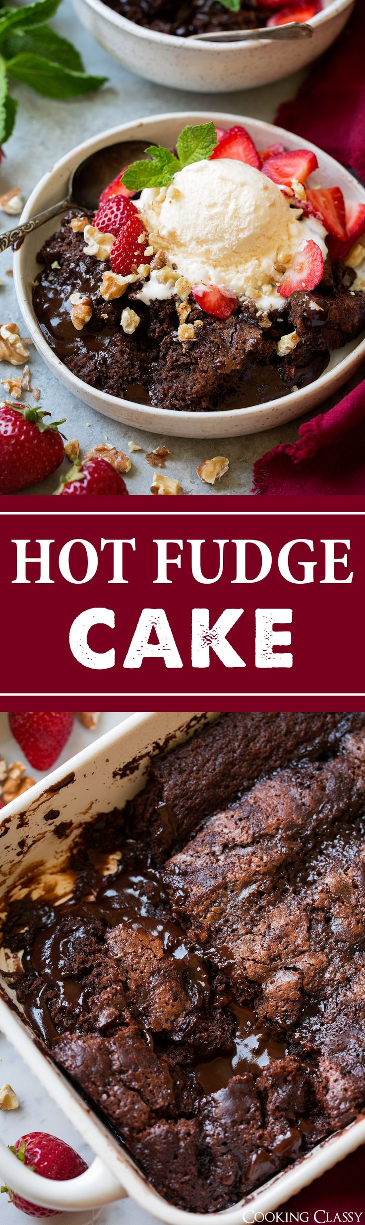 Hot Fudge Cake (AKA Chocolate Cobbler) - Cooking Classy