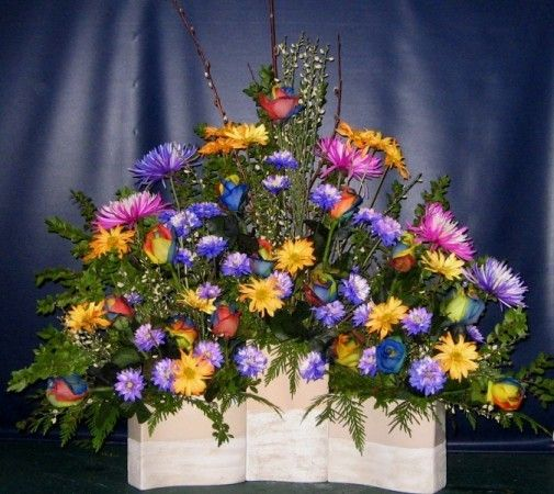 Silk Flower Arrangements Church Altar: 10 Best Images About Church Flowers On Pinterest