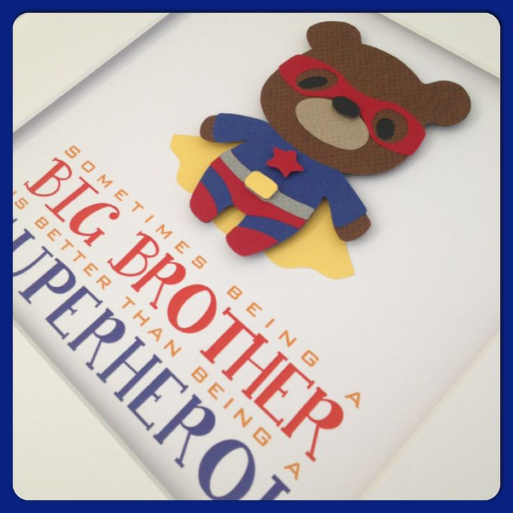 'Sometimes being a big brother is better than being a superhero!'   www.facebook.com/littleowlcreations12