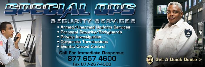 Special Ops Security – Fully Bonded and Insured – New Jersey – New York #private #security #companies #in #nj http://pennsylvania.remmont.com/special-ops-security-fully-bonded-and-insured-new-jersey-new-york-private-security-companies-in-nj/  # Special Ops Security Services is a fully bonded and insured security and investigative service company. We are unique in that all of our officers are specialized protective services professionals and have received training from the very best in the…