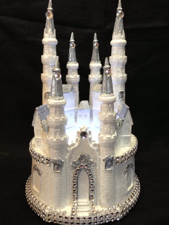Pin Cinderella Castle Cake Topper In Silver Finally