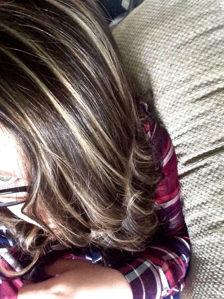 Dark Ash Brown With Ash Blonde Highlights Hair Amp Make Up