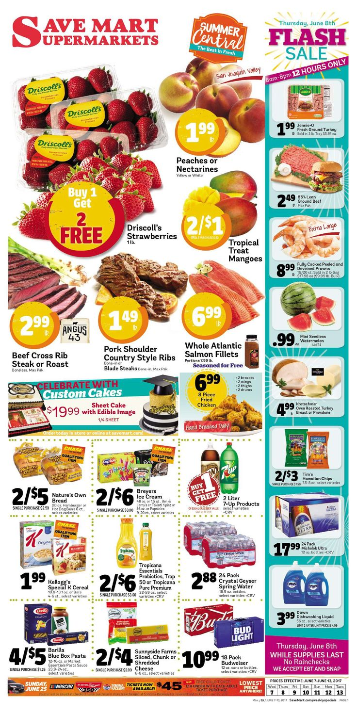 Save Mart Weekly ad June 7 - 13, 2017 - http://www.olcatalog.com/save-mart/save-mart-weekly-ad.html