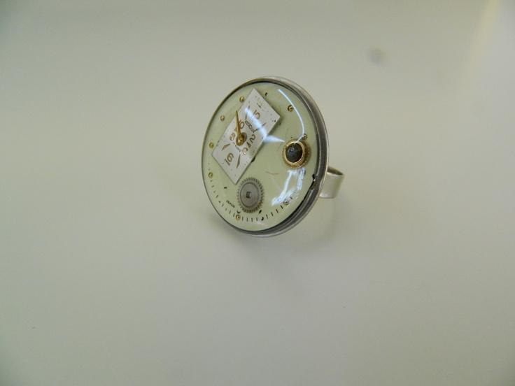 Steampunk resin ring