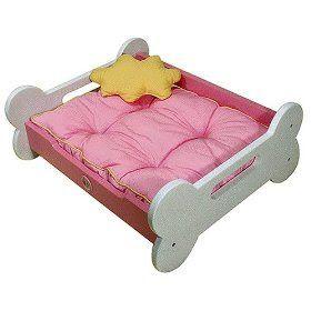 Pink Dog Bed: Pink Dog Bone Bed