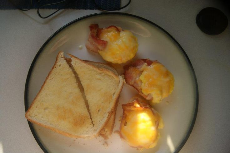 """Bacon,egg and cheese """"muffins"""""""