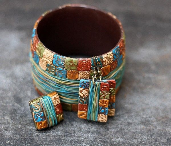 Lots of eye candy in polymer, full of color and texture - by Tanya Mayorova