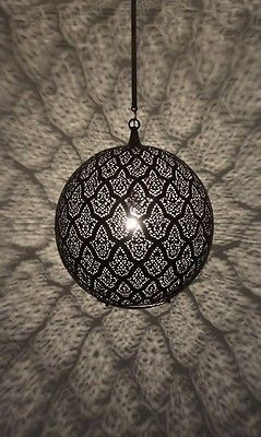 Handcrafted Moroccan Brass Hanging Lantern Pendant Lighting Lamp
