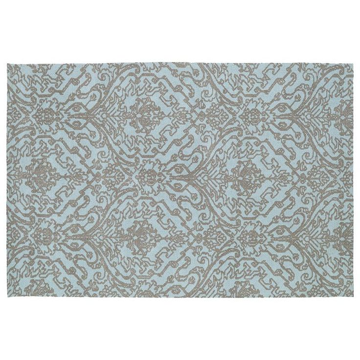 Kaleen Cozy Toes Serenity Damask Rug, Blue