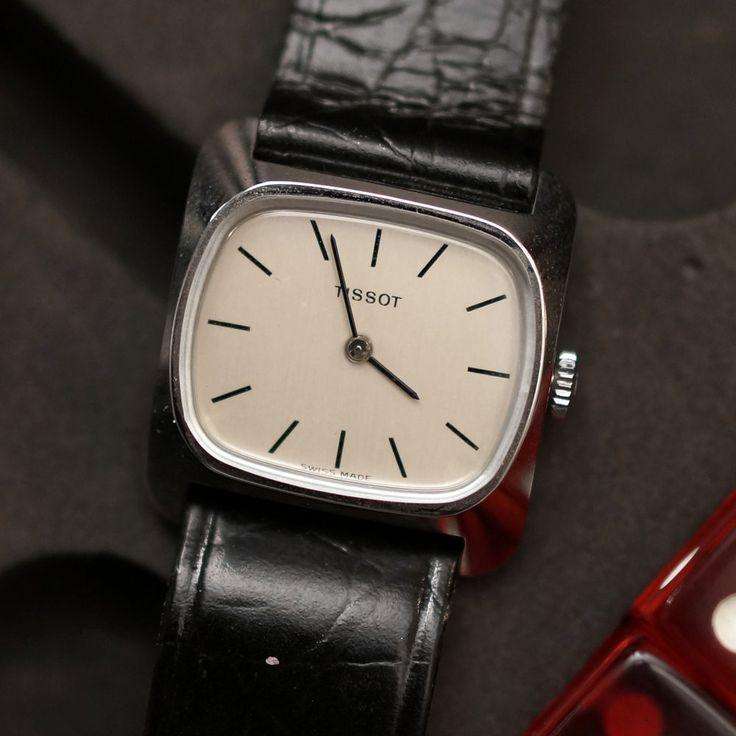 Tissot Women's Hand Wind Analog Vintage Wristwatch, square #Tissot #Vintage
