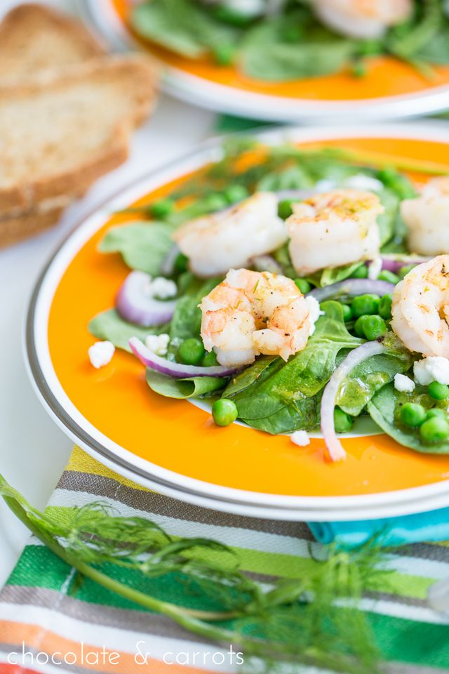 Fresh Green & Shrimp Salad with a Lemon Dill Dressing ...