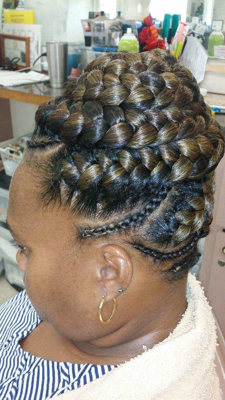 Goddess braid updo   African hair braiding pictures ...