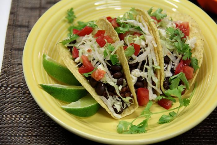 Vegan Burgundy Red Rice Meatless Tacos | Healthy Recipes | Pinterest