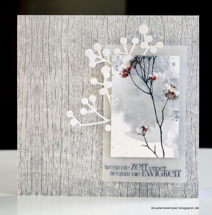 ... kann ja durchaus auch zweckentfremdet werden. Zutaten: Stempel Kärtchenpapier Holzstruktur Beeren Transparentpapi...