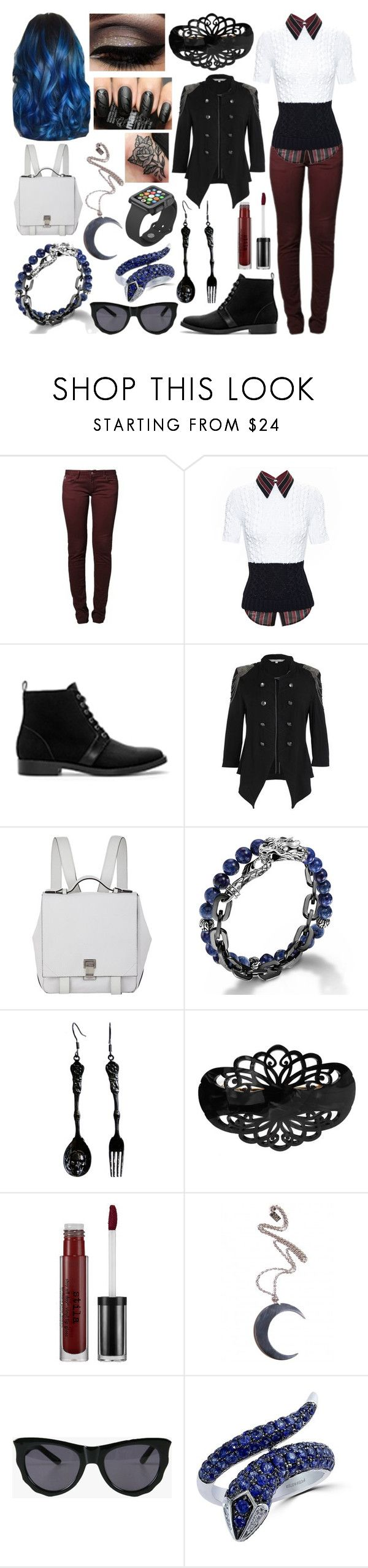 """Azalea Bradford"" by ashlynknight ❤ liked on Polyvore featuring Le Temps Des Cerises, N°21, Zara, Red Herring, Proenza Schouler, John Hardy, Alexander McQueen, France Luxe, Stila and Disturbia"