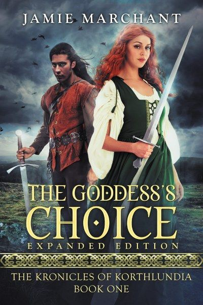 The Goddesss Choice The Kronicles of Korthlundia Book 1 by Jamie Marchant Genre: Epic Fantasy    In a world where the corrupt church hides the truth about magic the fate of the joined kingdom falls on the shoulders of two young people from opposite ends of the social hierarchy.  Crown Princess Samanthas life begins to fall apart when she starts seeing strange colors around her potential suitors. She fears that shes going insaneor worse that shes defying the Goddesss will. Robrek is a lowly…