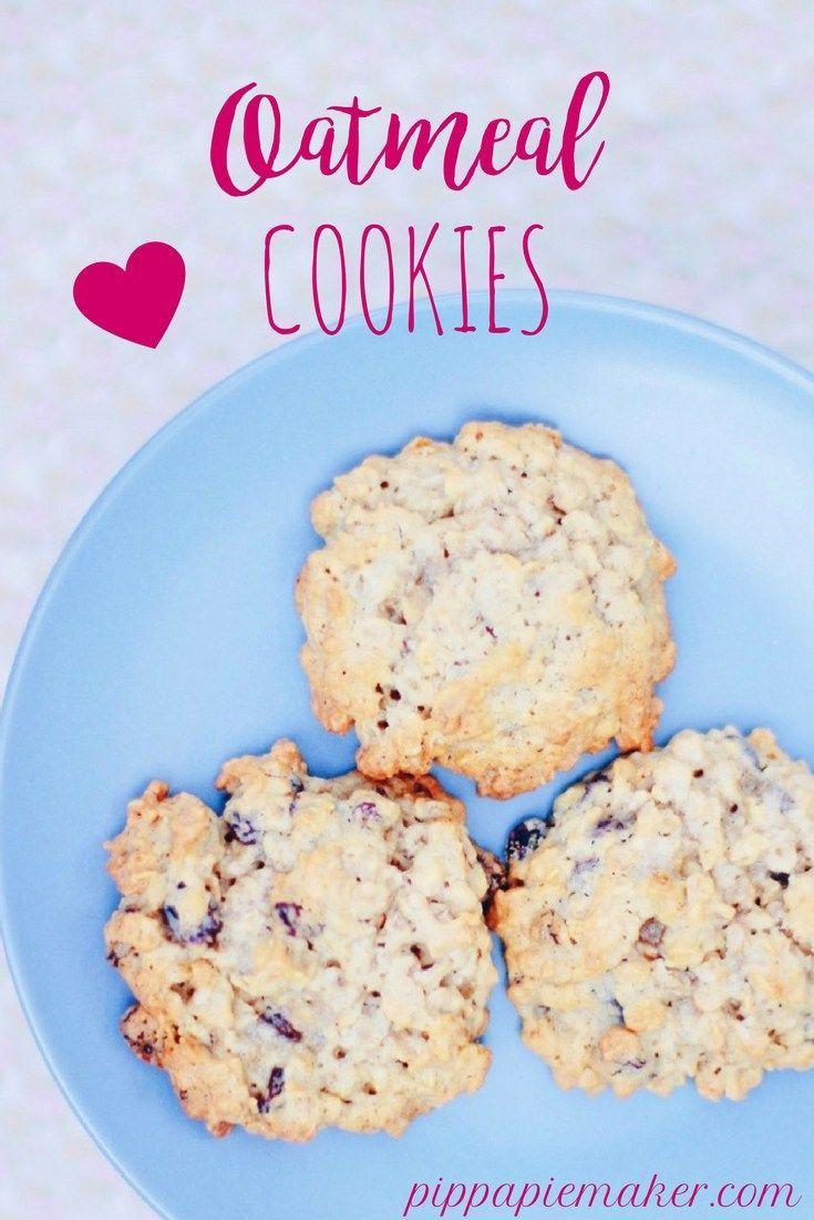 Oatmeal Cookies by http://pippapiemaker.com