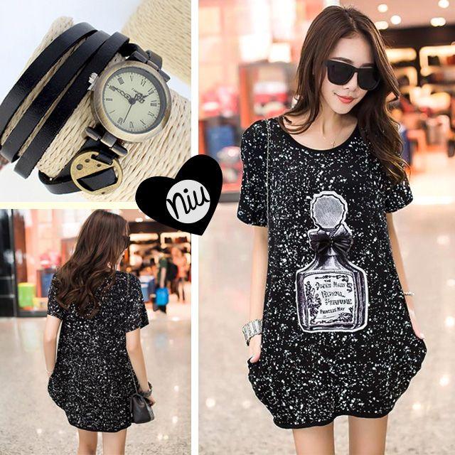 Un outfit de tonos negros entre este bluson y este reloj. encuentra esto y mucho más en: www.niuenlinea.co