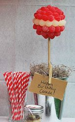 Canada Day Candy Topiary