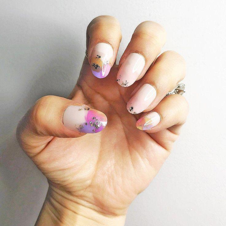 IMMEDIATE GLAM-CHERRY BLOSSOM PASTEL SHORT OVAL – Die Marke Neueste #Nails Sarg … – Nagel Modelle