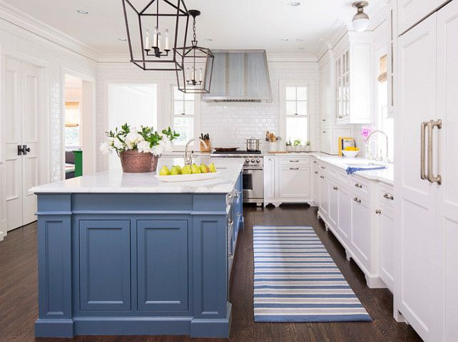 Pintrest Navy And White Kitchens