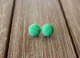 Handmade Green Earrings (cotton) $10 + postage  http://quirkystreet.bigcartel.com/product/green-handmade-earrings