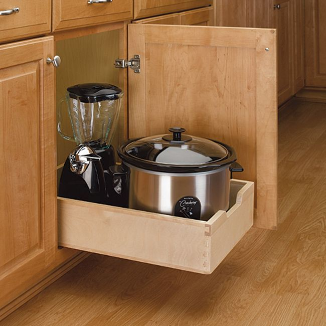Medium Wood Pull-out Cabinet Drawer - Overstock™ Shopping - Big Discounts on Kitchen Storage